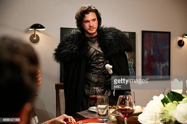 Kit Harrington as Jon Snow during the 'Game of Thrones' skit on April 2 2015