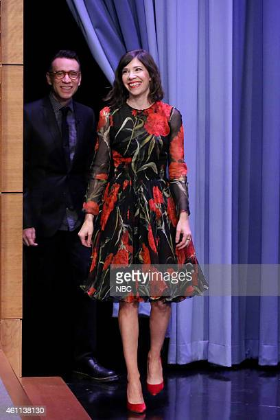 Actor Fred Armisen and actress Carrie Brownstein arrive on January 7 2015