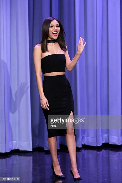 Actress Victoria Justice arrives on January 16 2015