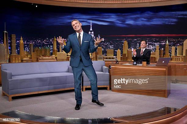 Television personality Andy Cohen during an interview with host Jimmy Fallon on February 18 2015