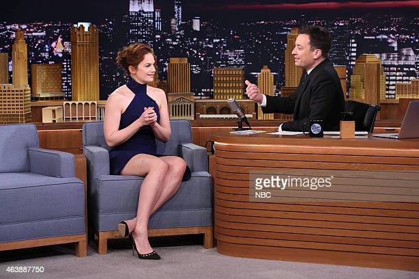 Actress Ruth Wilson during an interview with host Jimmy Fallon on February 19 2015