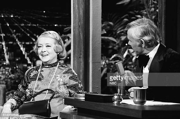 Actress Bette Davis during an interview with host Johnny Carson on February 14 1972