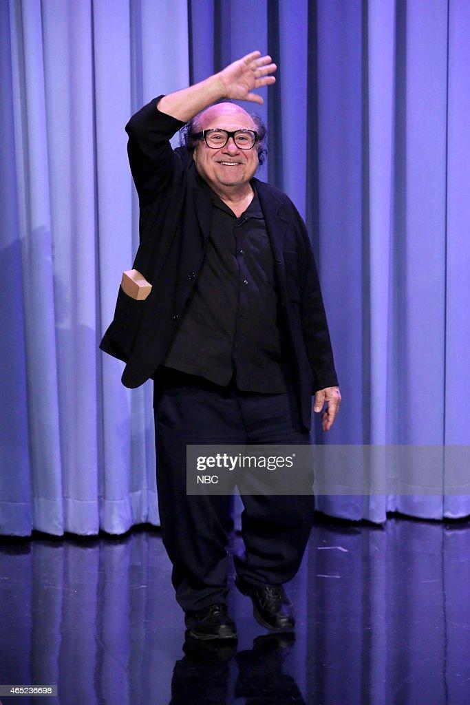 "NBC's ""Tonight Show Starring Jimmy Fallon"" with guests Danny DeVito, Zoe Kravitz, Artie Lange"
