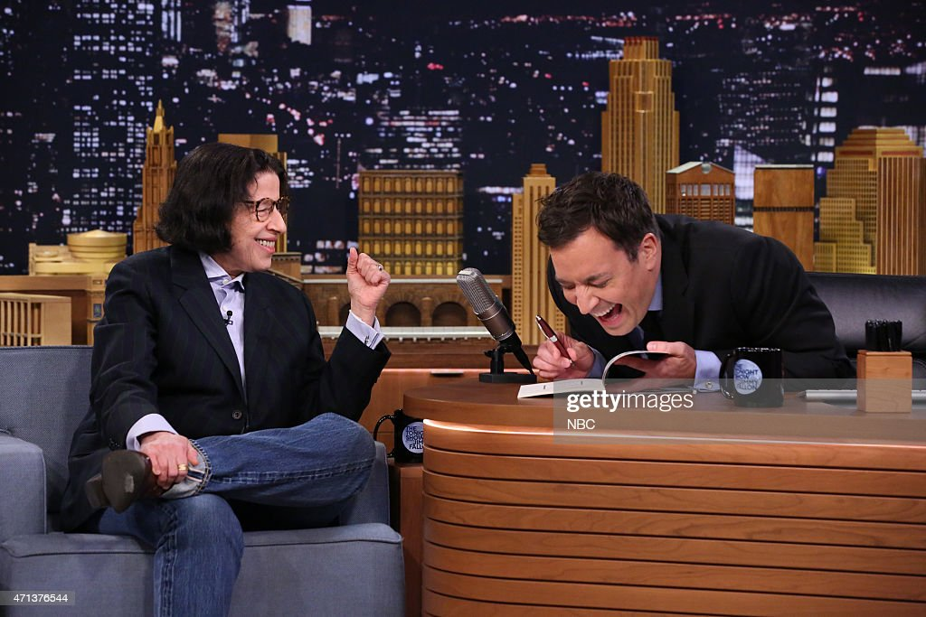 Author Fran Lebowitz during an interview with host Jimmy Fallon on April 27, 2015 --