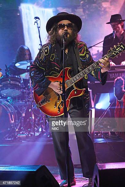 Musical guests Jim James of My Morning Jacket performs on May 1 2015