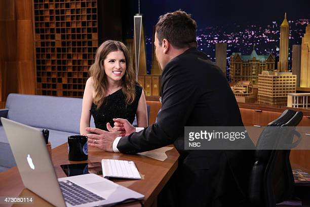 Actress Anna Kendrick during an interview with host Jimmy Fallon on May 12 2015