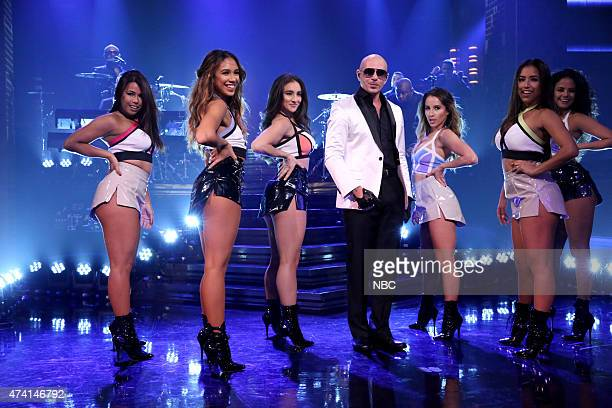 Musical guest Pitbull performs on May 20 2015