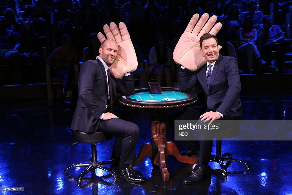 Jason Statham and host Jimmy Fallon on June 3, 2015 --