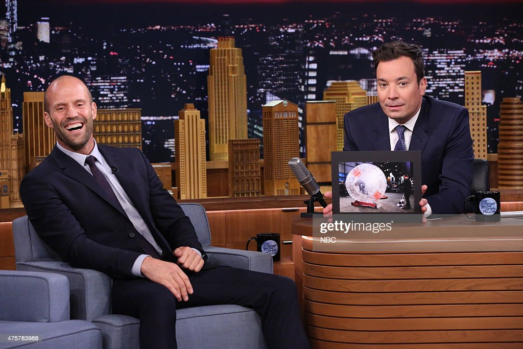 Jason Statham during an interview with host Jimmy Fallon on June 3, 2015 --