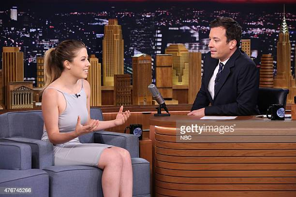 Actress Jennette McCurdy during an interview with host Jimmy Fallon on June 11 2015