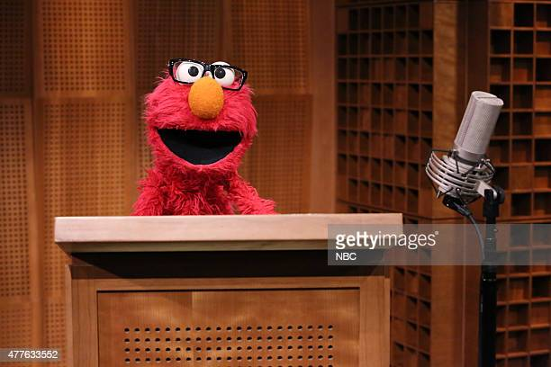 Guest announcer Elmo on June 18 2015
