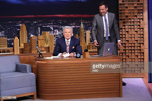 Regis Philbin and host Jimmy Fallon during a skit on June 19 2015