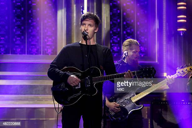 Musical guest George Ezra performs on July 28 2015