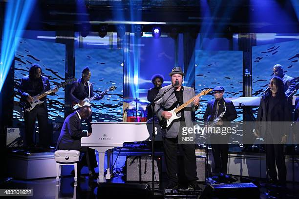 Musical guest Christopher Cross performs with The Roots on August 6 2015