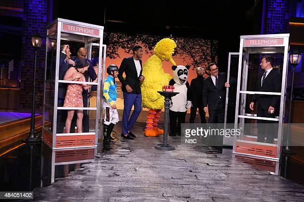 Actor Kevin Spacey actress Mae Whitman actor KeeganMichael Key jockey Victor Espinoza basketball player KarlAnthony Towns Big Bird Hashtag the Panda...