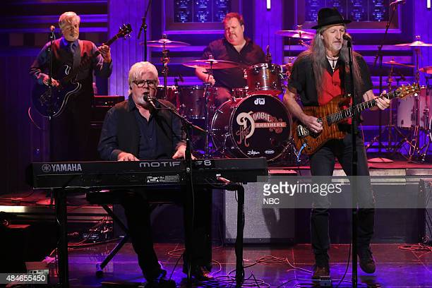 Musical guests Michael McDonald Patrick Simmons of The Doobie Brothers perform on August 20 2015