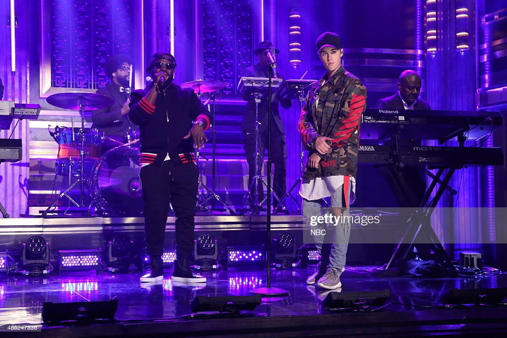 """NBC's """"The Tonight Show Starring Jimmy Fallon"""" with guests Justin Bieber, Salman Rushdie"""