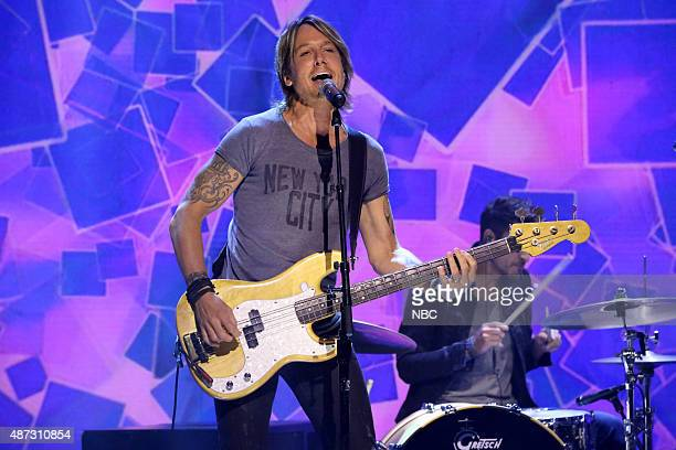 Musical guest Keith Urban performs on September 8 2015