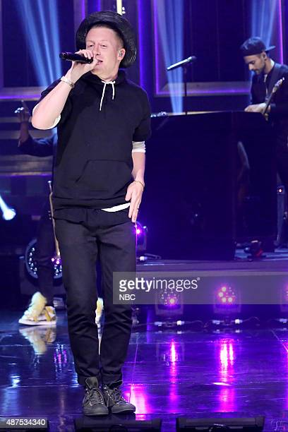 Episode 0325 -- Pictured: Musical guest Macklemore performs with Ryan Lewis on September 9, 2015 --