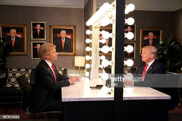 Host Jimmy Fallon and Donald Trump during the Trump in the Mirror skit on September 11 2015