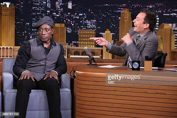 Actor Wesley Snipes during an interview with host Jimmy Fallon on September 17 2015
