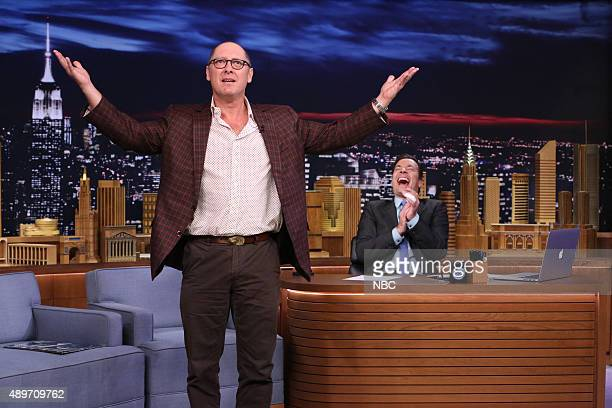 Actor James Spader during an interview with host Jimmy Fallon on September 23 2015