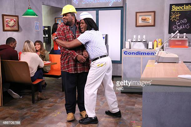 Kenan Thompson and Kel Mitchell during the 'Good Burger' sketch on September 23 2015