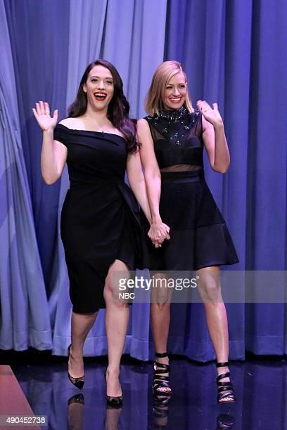 Actress Kat Dennings and actress Beth Behrs arrive on September 28 2015