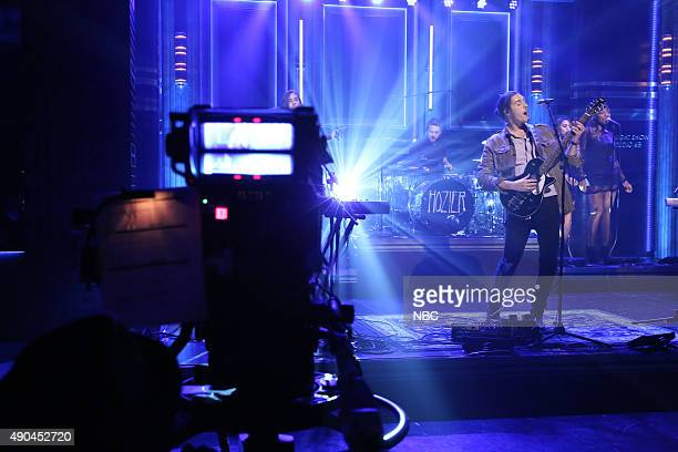 Musical guest Hozier performs on September 28 2015