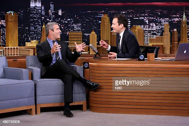 Television personality Andy Cohen during an interview with host Jimmy Fallon on September 30 2015