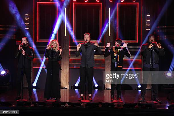 Musical guest Pentatonix performs on October 15 2015