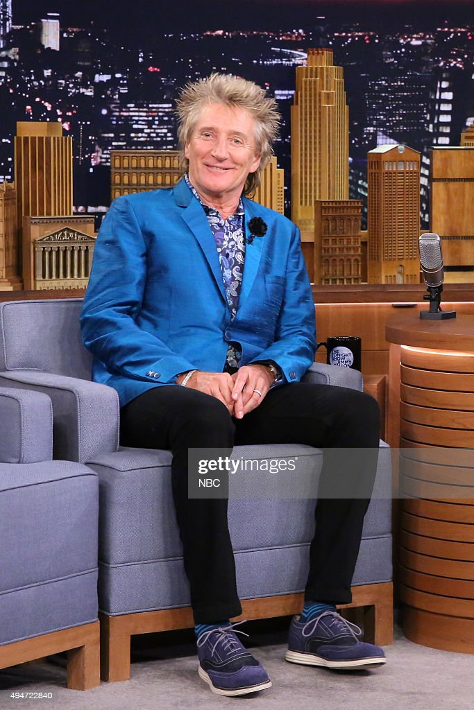 Musician Rod Stewart on October 28, 2015 --