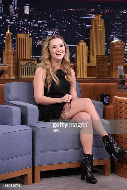 Actress Billie Lourd during an interview on November 20 2015