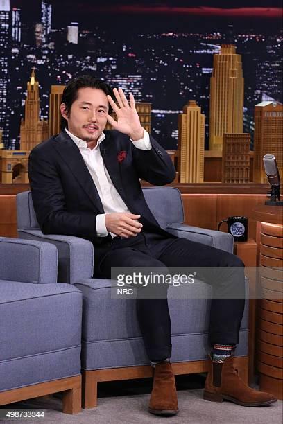 Actor Steven Yeun on November 25 2015