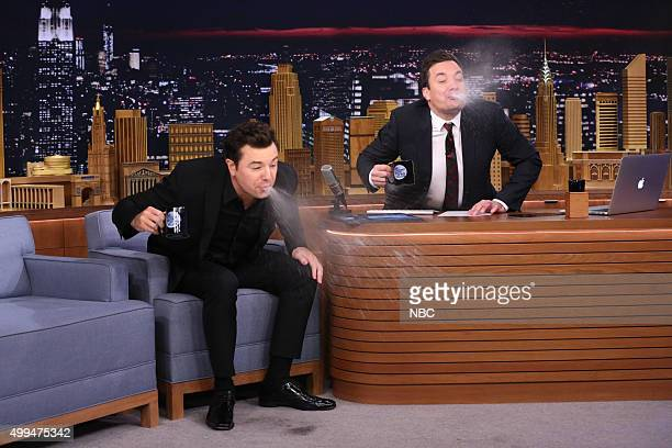 Singer Seth MacFarlane during an interview with host Jimmy Fallon on December 1 2015