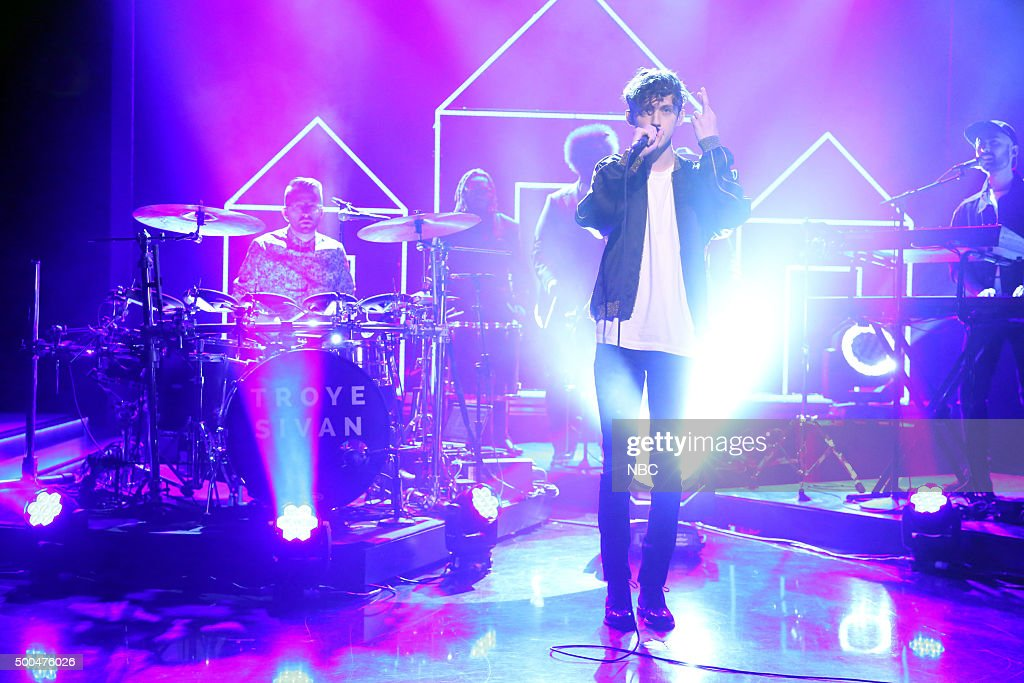 Musical guest Troye Sivan performs on December 8, 2015 --