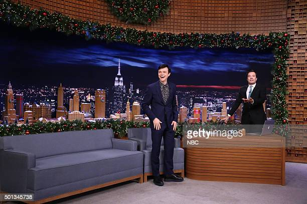 Actor Dane DeHaan during an interview with host Jimmy Fallon on December 14 2015