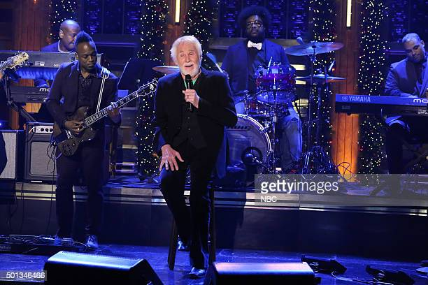 Musical guest Kenny Rogers performs with The Roots on December 14 2015