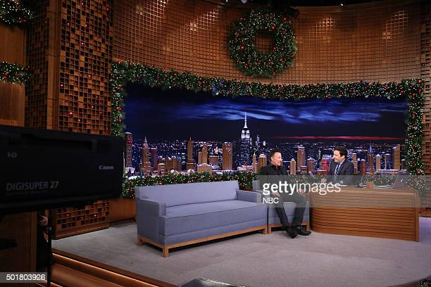 Musician Bruce Springsteen during an interview with host Jimmy Fallon on December 17 2015