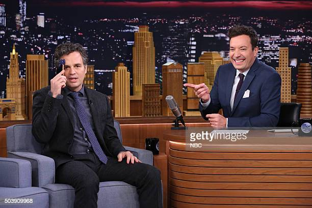 Actor Mark Ruffalo during an interview with host Jimmy Fallon on January 7 2016