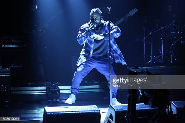 Musical guest Kendrick Lamar performs on January 7 2016