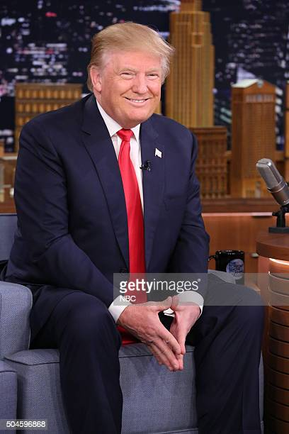 Presidential candidate Donald Trump during an interview on January 11 2016