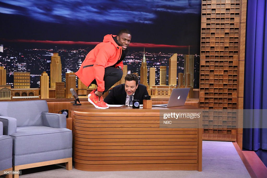 "NBC's ""The Tonight Show Starring Jimmy Fallon"" with guests Kevin Hart, Noel Fielding, Joshua Topolsky"