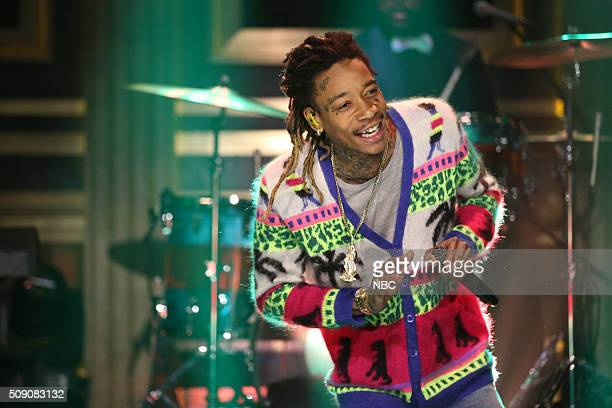 Musical guest Wiz Khalifa performs with The Roots on February 4 2016