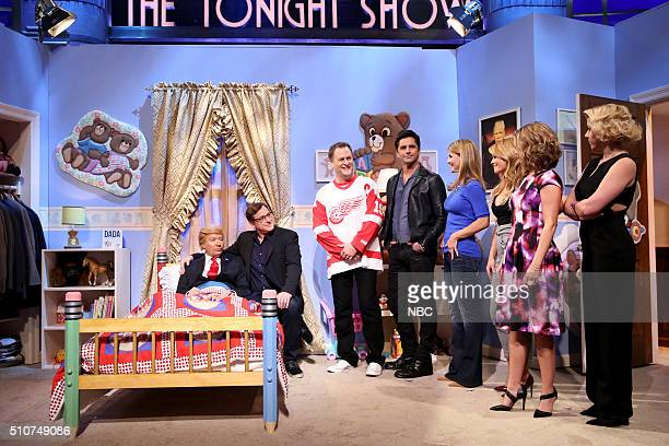 Host Jimmy Fallon as Donald Trump Bob Saget as Danny Tanner Dave Coulier as Joey Gladstone John Stamos as Jesse Katsopolis Lori Loughlin as Rebecca...