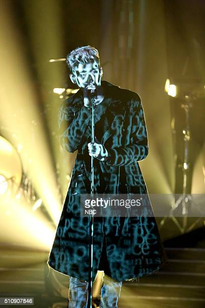 Musical guest Zayn performs on February 17 2016