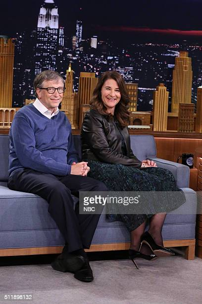 Bill Gates and Melinda Gates on February 23 2016