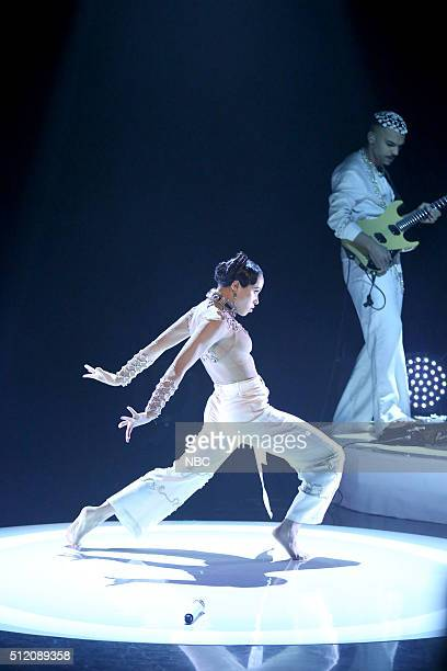 Musical guest FKA Twigs performs on February 24 2016