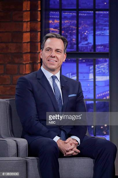 Journalist Jake Tapper during an interview on October 10 2016