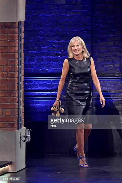 Second Lady Dr Jill Biden arrives on October 12 2016